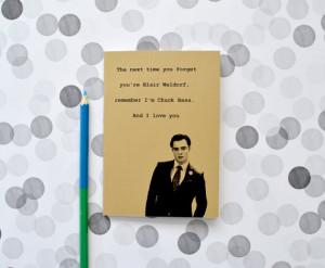 ... notebook - Gossip Girl - Ed Westwick quote - journal - Blair Waldorf