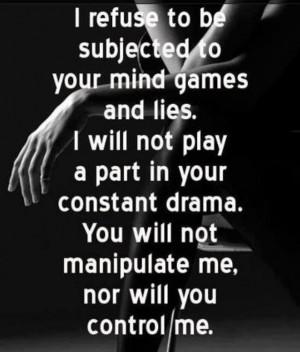 No mind games, no drama, no kidding...