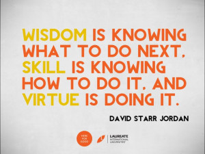... the virtue of learning from experience. #Quotes #Laureate #Inspiration