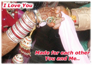 Love You, Made For Each Other You And Me ~ Love Quote