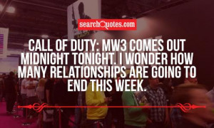 Call of Duty: MW3 comes out midnight tonight. I wonder how many ...
