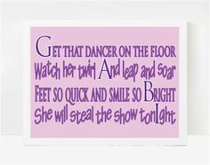 Dance Gifts Dance Quotes Dance Art Gabi 8x10 by LarkRoadRhymes, $20.00