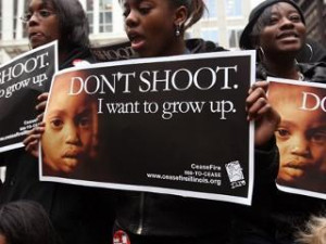 ... students demonstrate against gun violence courtesy urbangrounds.com