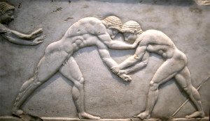 ancient greece olympic games wrestling