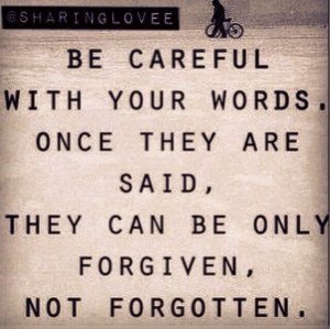 Forgiven not forgotten #quote