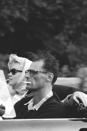 Marilyn Monroe y Arthur Miller en 1956