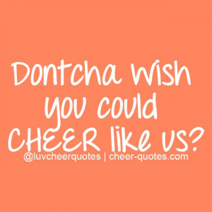 could CHEER like us? #cheer #cheerleader #luvcheerquotes #cheerleading ...