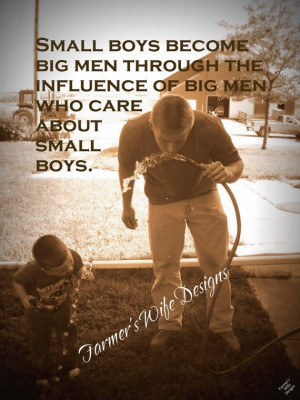 Father To Son Love Quotes Farmer and son small boys
