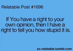 Sarcastic Quotes About Opinions