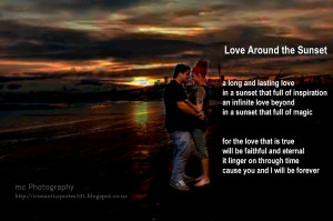 love around sunset a long and lasting love in a sunset that full of ...