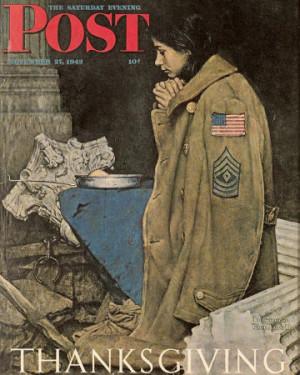 Norman Rockwell Thanksgiving: Girl Praying Saturday Evening Post ...