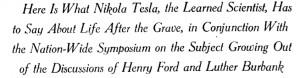 Here Is What Nikola Tesla, the Learned Scientist, Has