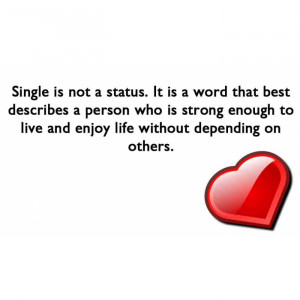 ... Status It Is A Word That Best Describes A Person - Being Single Quote