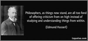 Philosophers, as things now stand, are all too fond of offering ...