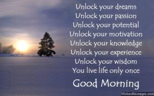 Good Morning Inspirational Poems