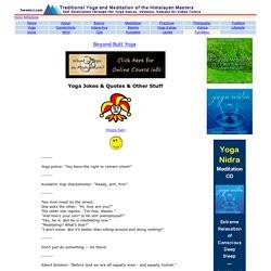 Yoga Meditation Jokes & Quotes