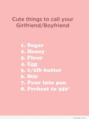 say something sweet to your girlfriend