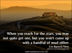 inspirational quotes, reach for the stars quotes