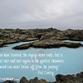 blue lagoon iceland photo inspiration leave a trail photo quote