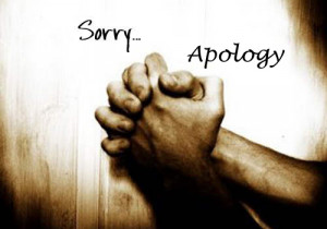 Apology and Sorry sms