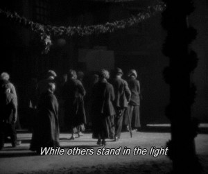 While others stand in the light - The Three Penny Opera (1931)