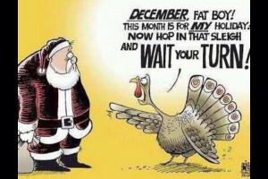 ... up in Thanksgiving's grill! Thanksgiving Turkey vs. Santa Claus