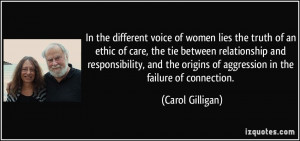 In the different voice of women lies the truth of an ethic of care ...