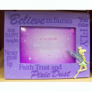 Disney Picture Frame - Quotes - Tinker Bell