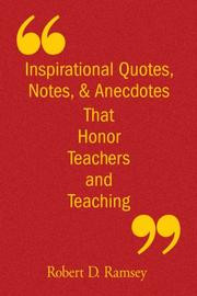 Cover of: Inspirational Quotes, Notes, & Anecdotes That Honor Teachers ...