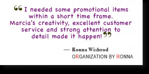 Testimonial from Ronna Wisbrod, Organization by Ronna