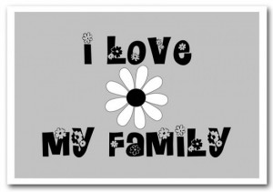 ... -Art Print-10195-I Love My Family Grey-Text Quotes-Giclee Paper-A