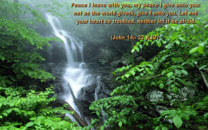 Bible Verse Nature Background