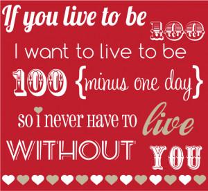 100 Minutes Valentines Quote