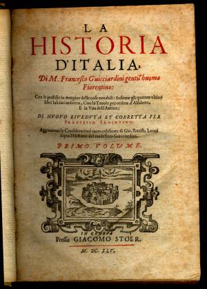 Guicciardini Francesco Florence 1483 Santa Margherita a Montici