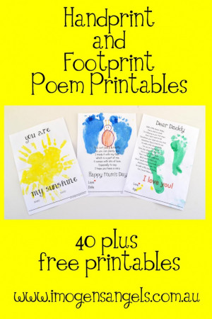 Imogen's Angels Handprint and Footprint printables