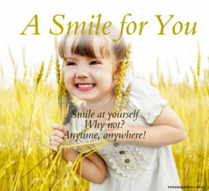 Inspirational quotes smile picture of little girl and quote a smile ...