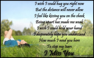 Miss Him Poems Romantic i miss you poem to