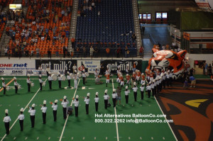 Tiger Idaho State Bengals Mascot Football Tunnel