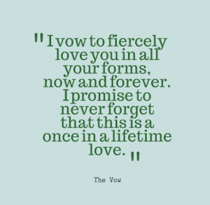 The Vow Quote