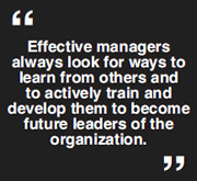 ... and develop their employee managers are not truly leading managers