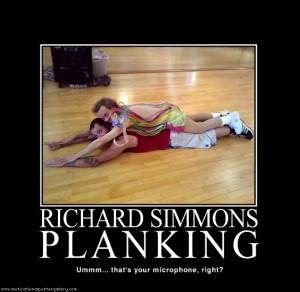 Richard Simmons Planking