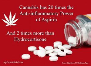Cannabis has 20 times the Anti-Inflammatory Power of Aspirin & 2 times ...