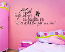 SUGAR AND SPICE LITTLE GIRLS ROOM Vinyl Wall quote Decal home Decor ...