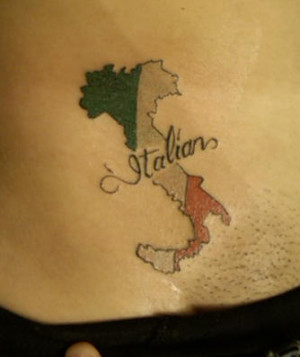 flower tattoo with italian love quote italian flag and text tattoo