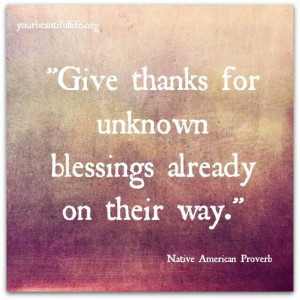 My blessings are many, and so many more to come...