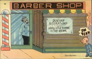 Barber shop Jess Meltsner Comic, Funny
