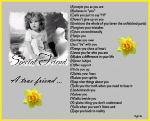 Special friend, A true friend... A - Z