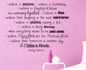 ... -Art-Sticker-Quote-Vinyl-I-Believe-in-Manicures-Audrey-Hepburn-J73
