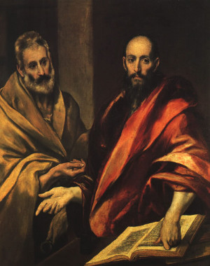 El Greco, Apostles Peter and Paul, 1587-92, oil on canvas, The ...