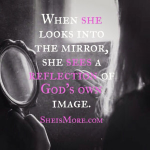 Her Reflection Is…